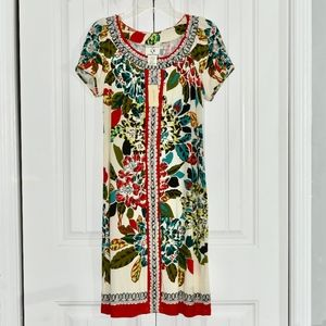 ice Vanilla Red floral dress Size 10 NWT